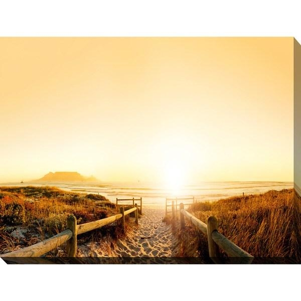 """Sunset In Cape Town, South Africa"""" Giclee Print Canvas Wall Art With Cape Town Canvas Wall Art (Image 19 of 20)"""