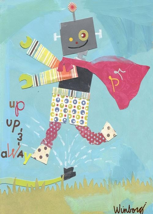 Superhero Robot Canvas Wall Artoopsy Daisy – Rosenberryrooms For Robot Canvas Wall Art (Image 16 of 20)