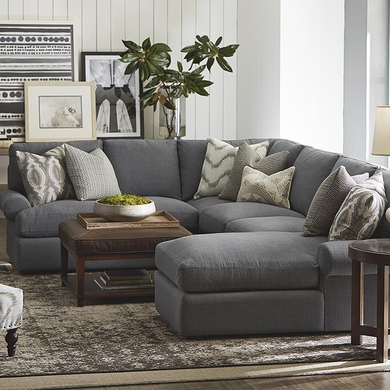 Sutton U Shape Sectional Sofa | Living Room | Bassett Furniture Within U Shaped Sectionals (Image 10 of 10)