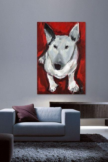 T Dog Canvas Wall Art – Marmont Hill | Whimsical Art Event Throughout Quirky Canvas Wall Art (Image 18 of 20)
