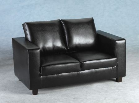 Tempo Two Seater Sofa – Mfp Furniture For Black 2 Seater Sofas (Image 10 of 10)