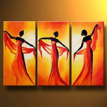 Tempting Dance Oil Painting Canvas Wall Art With Stretched Frame With Oil Paintings Canvas Wall Art (Image 14 of 20)