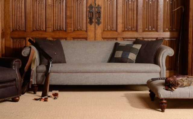 Tetrad Harris Tweed Bowmore Midi Sofa – Sofas & Chairs – Fabric Regarding Tweed Fabric Sofas (Image 8 of 10)