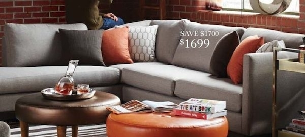 "The Bay: Nashua 112"" Sectional Sofa – Redflagdeals In The Bay Sectional Sofas (View 4 of 10)"