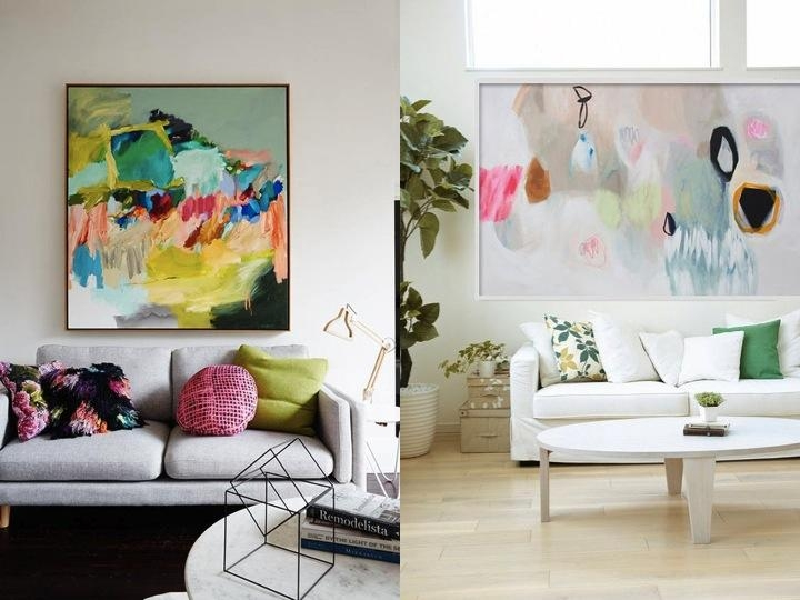 The Best Affordable Abstract Art 100 Paintings For Under £100 In John Lewis Abstract Wall Art (Image 17 of 20)