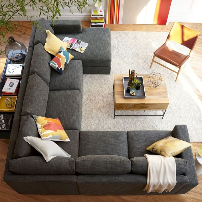 The Best Luxury Living Room Designs From Our Favorite Celebrities Within Gray U Shaped Sectionals (Image 9 of 10)