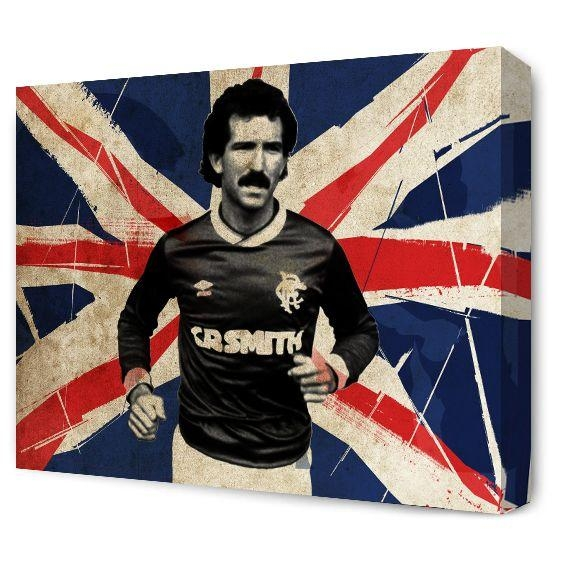 The Blue Room — Graeme Souness Union Flag Canvas | Blue Room Art With Glasgow Canvas Wall Art (Image 17 of 20)