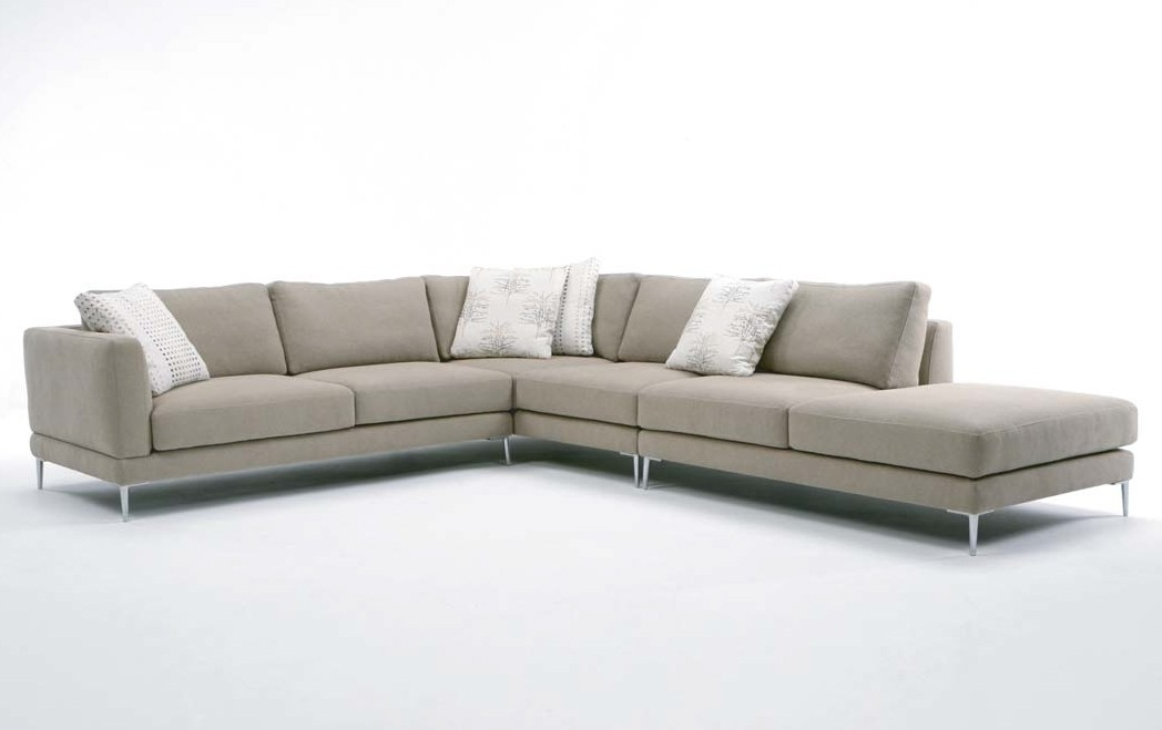 The Dania Sofa Sectionaldellarobbia Is A Clean Lined With Regard To Dania Sectional Sofas (Image 9 of 10)