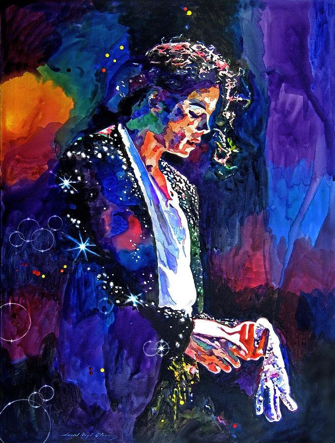 The Final Performance – Michael Jackson Paintingdavid Lloyd Glover With Regard To Michael Jackson Canvas Wall Art (View 7 of 20)