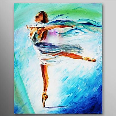The Girl Dance Ballet Dancer Oil Painting Wall Art Modern Canvas Pertaining To Dance Canvas Wall Art (Image 17 of 20)