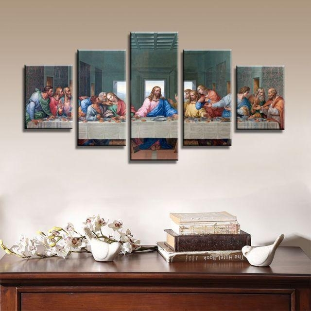 The Last Supper Canvas Wall Art Prints Hd Religious Jesus Intended For Religious Canvas Wall Art (View 9 of 20)