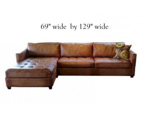 The Wilmington Leather Sofa And Sectional Is Made In North America Throughout Durham Region Sectional Sofas (View 4 of 10)