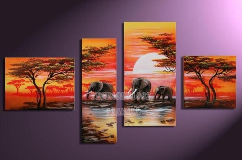 Thick Texture Magnolia 5Pcs/set Modern Abstract Oil Paintings Pertaining To Abstract Oil Painting Wall Art (Image 17 of 20)