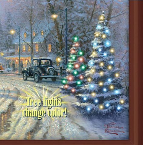 Thomas Kinkade A Holiday Gathering Lighted Canvas Print Inside Lighted Canvas Wall Art (View 13 of 20)