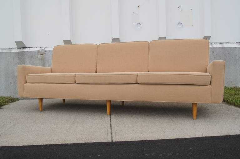 Three Seater Sofaflorence Knoll At 1Stdibs Inside Florence Knoll Wood Legs Sofas (Image 9 of 10)