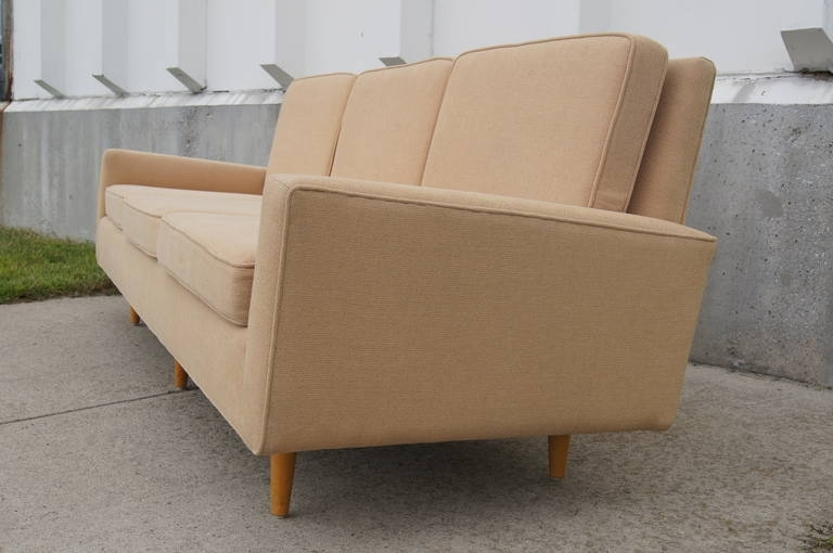 Three Seater Sofaflorence Knoll At 1Stdibs Throughout Florence Knoll Wood Legs Sofas (Image 10 of 10)