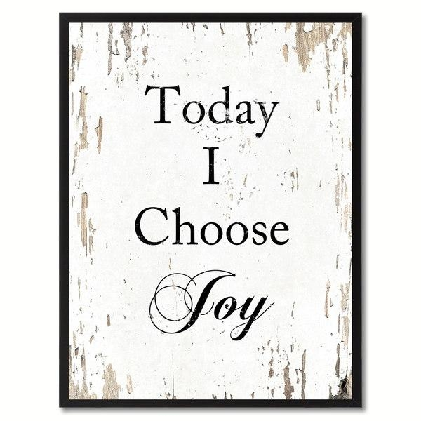 Today I Choose Joy Saying Canvas Print Picture Frame Home Decor Inside Joy Canvas Wall Art (Image 19 of 20)