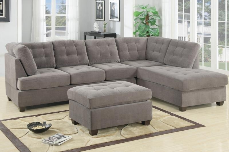 Top 10 Beautiful Microfiber Sectional Sofa With Microsuede Sectional Sofas (Image 9 of 10)