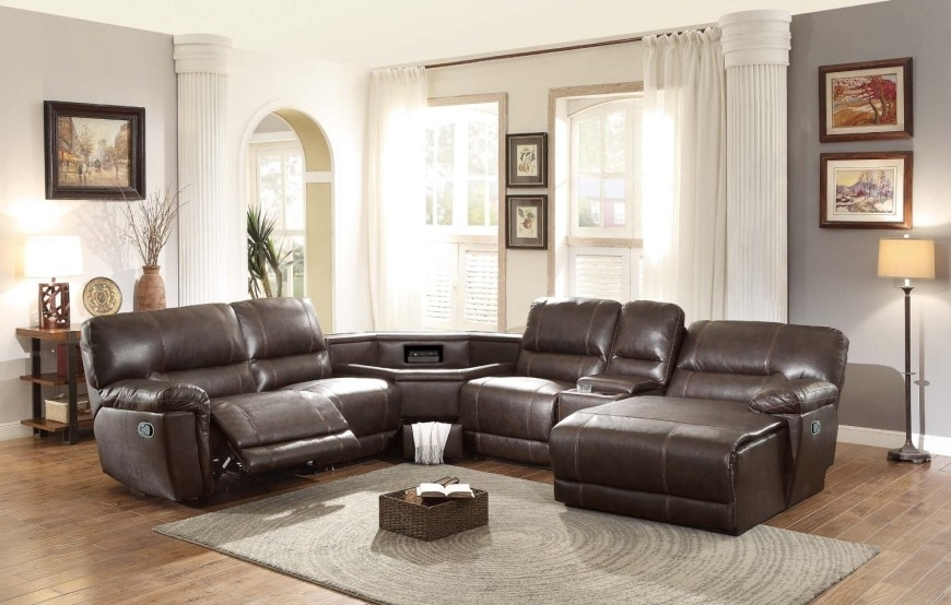 Top 10 Best Reclining Sofas (2018) In Leather Recliner Sectional Sofas (View 10 of 10)
