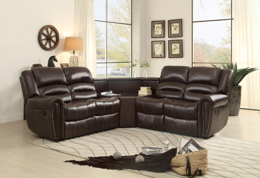Top 10 Best Reclining Sofas (2018) Pertaining To Sectional Sofas With Recliners Leather (View 6 of 10)