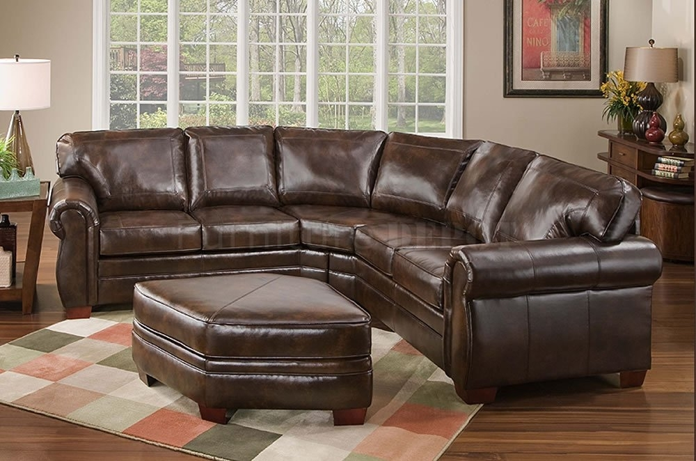 Top Bonded Leather Sofas And Ottoman 3 Image 4 Of 25 | Carehouse Intended For Leather Sectional Sofas With Ottoman (Image 9 of 10)