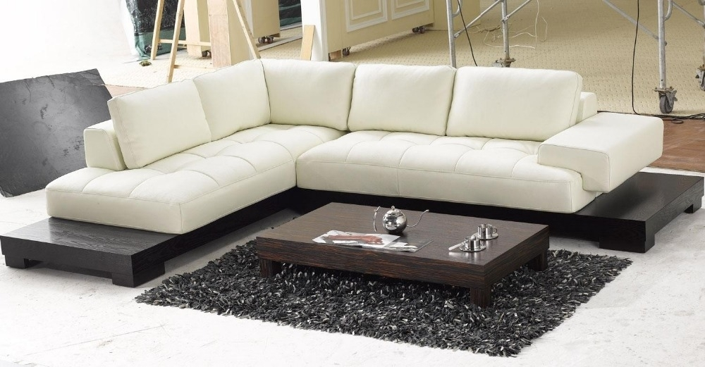 Top Graded Italian Genuine Leather Sofa Sectional Living Room Sofa With Regard To Home Furniture Sectional Sofas (Image 10 of 10)