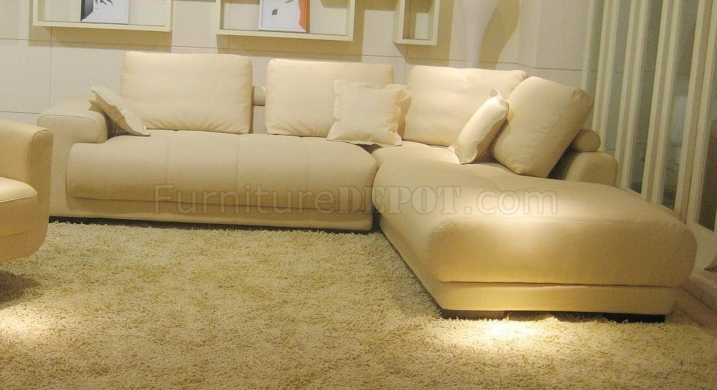 Top Grain Leather Modern Sectional Sofa Bo3871 Intended For Beige Sectional Sofas (Image 9 of 10)
