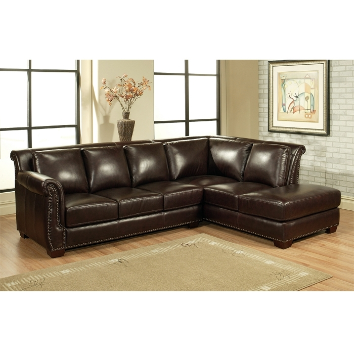 Top Leather Sectional Sofa Chaise Leather Sofa With Chaise Lounge With Leather Sectionals With Chaise And Ottoman (Image 10 of 10)