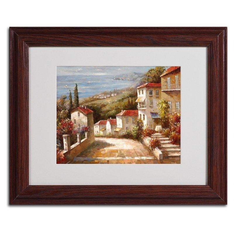 Trademark Art 'home In Tuscany'joval Framed Painting Print In Joval Canvas Wall Art (Image 19 of 20)