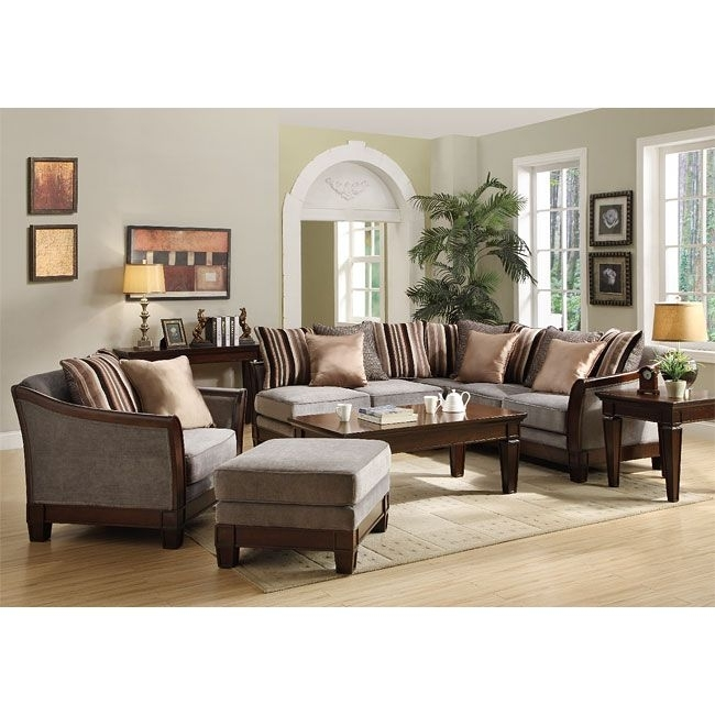 Trenton Sectional Living Room Set (Grey Velvet) | Sectionals At In Joplin Mo Sectional Sofas (Image 7 of 10)