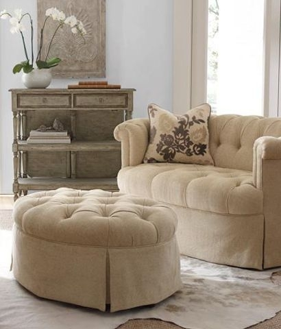 Tufted Loveseat With Ottoman | Apartment Ideas | Pinterest With Loveseats With Ottoman (View 2 of 10)
