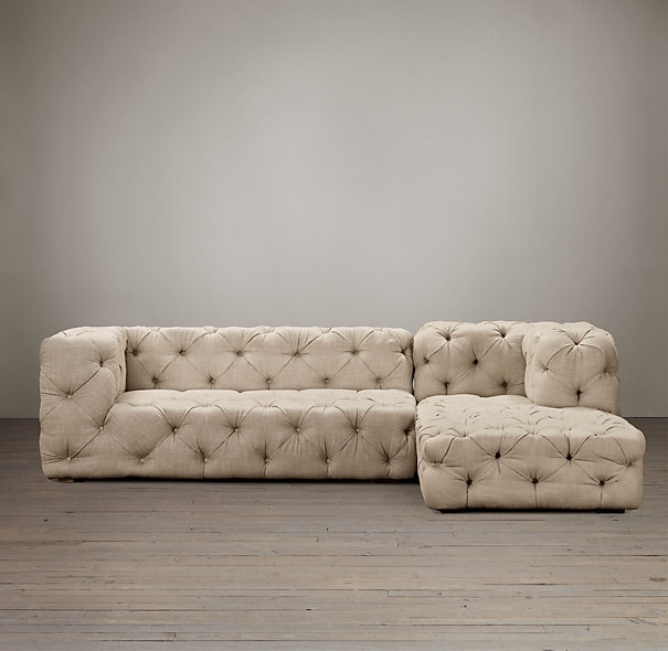 Tufted Sectional Sofa Chaise | Designs Ideas And Decors : Attractive Intended For Tufted Sectional Sofas (Image 9 of 10)