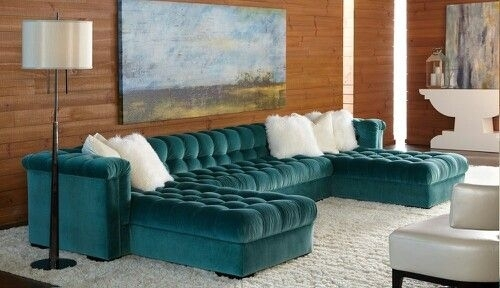 Turquoise Sectional  Wow! | Furniture Finds | Pinterest Regarding Wilmington Nc Sectional Sofas (Image 10 of 10)