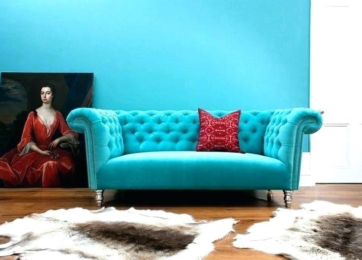 Turquoise Velvet Sofa Chesterfield Sofa Velvet Turquoise Sofas In Turquoise Sofas (Image 9 of 10)