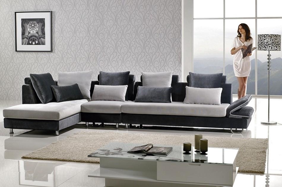Two Tone Microfiber Sectional Sofa Regarding Two Tone Sofas (Image 10 of 10)