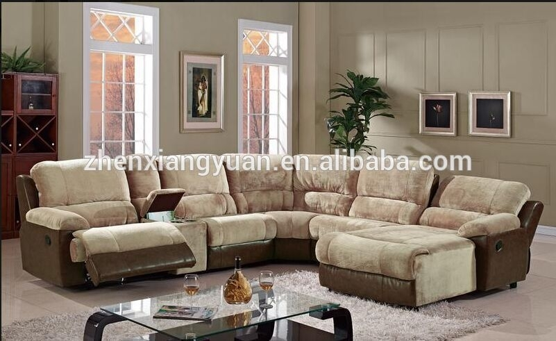 U Shape Leather Sectional Recliner Sofa With Chaise – Buy Italy Inside Reclining U Shaped Sectionals (Image 6 of 10)