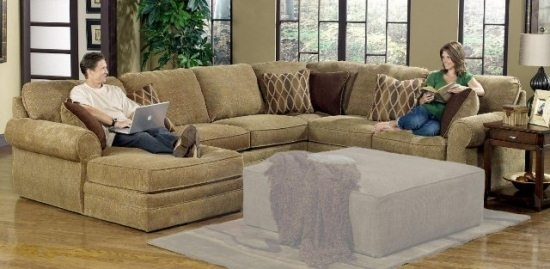 U Shape Sectional Sofas For Less Overstock Com Within Shaped Sofa With Reclining U Shaped Sectionals (Image 7 of 10)