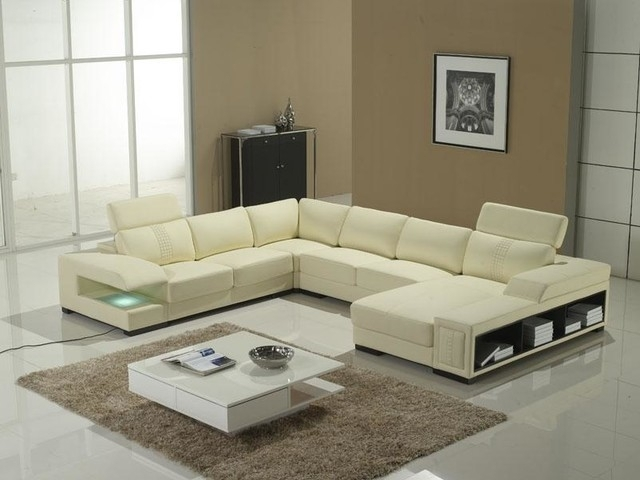U Shape Sectional With Storage Shelves Modern Living Room U Shaped With Modern U Shaped Sectionals (Image 8 of 10)