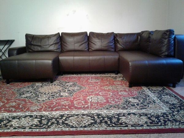 U Shaped Chocolate Brown Sectional Sofa (Furniture) In Kansas City Inside Kansas City Mo Sectional Sofas (Image 10 of 10)