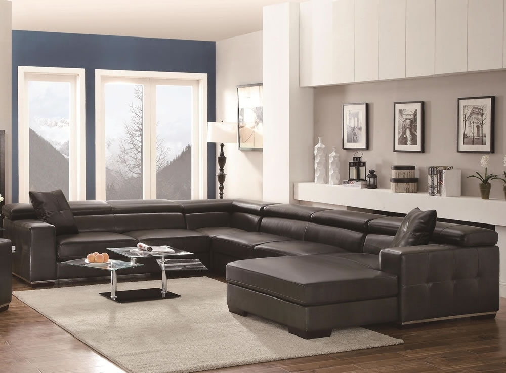 U Shaped Large Sectional Sofas Black Sofa Furniture Set — The Home For Big U Shaped Sectionals (Image 10 of 10)