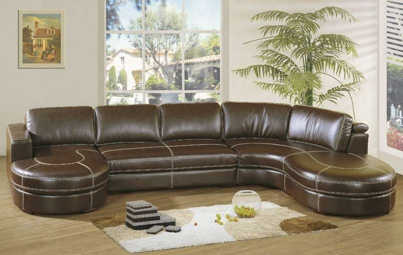 U Shaped Sectional Leather Custom Sofa Recliner Leather Sectional In U Shaped Leather Sectional Sofas (View 7 of 10)