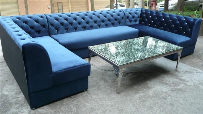 U Shaped Sectional Sofa, U Shaped Sectional Sofa Suppliers And In Blue U Shaped Sectionals (Photo 2 of 10)