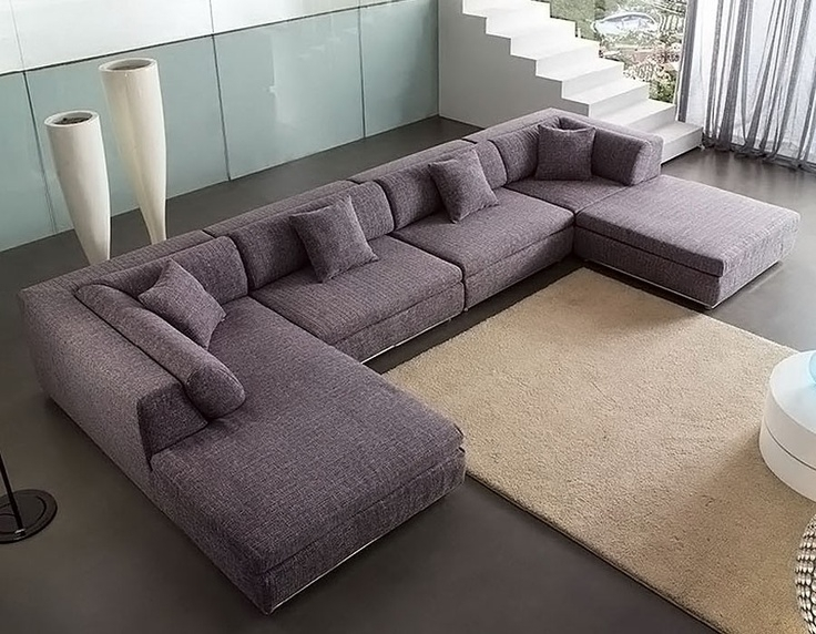 U Shaped Sectional Sofas With Chaise Grey Color All About House With Regard To U Shaped Sectional Sofas (Image 10 of 10)