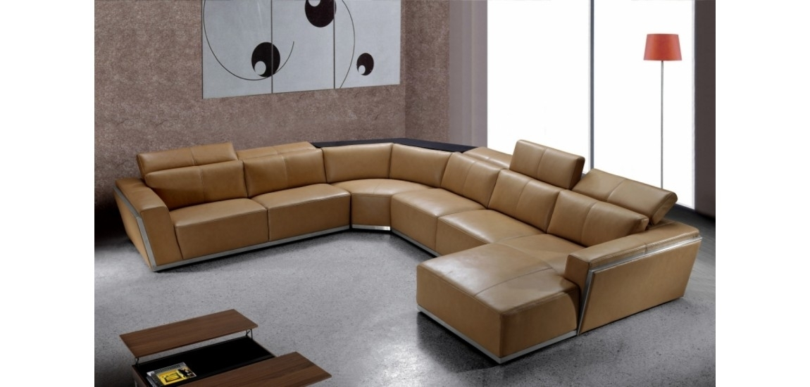 U Shaped Sofa Design Comfortable : Into The Glass – Appealing U In U Shaped Leather Sectional Sofas (View 9 of 10)