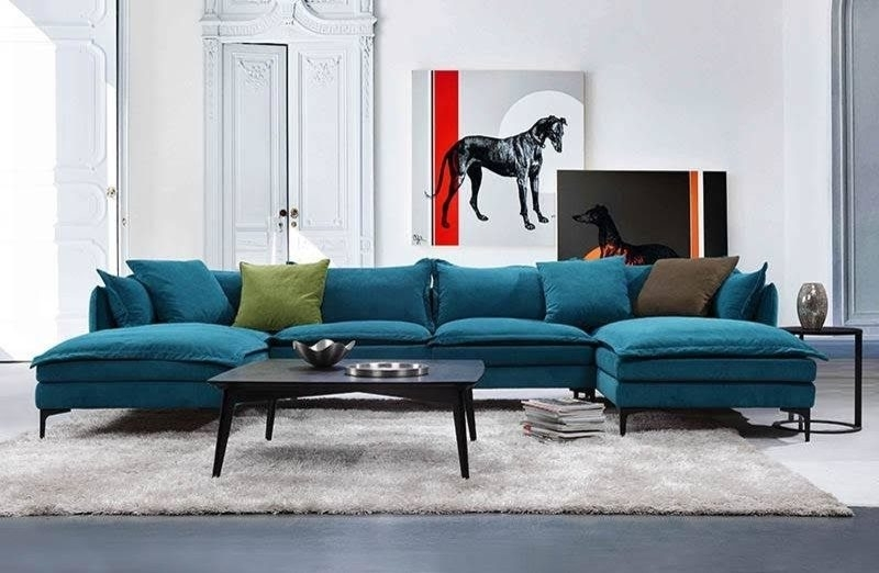 U Shaped Sofa – Houston U Shaped Couch Living Room Transitional With For Blue U Shaped Sectionals (Photo 10 of 10)