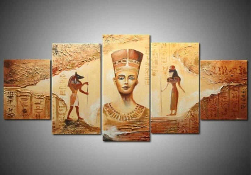 Unframed] Ancient Egyptian Abstract Art Canvas Painting Prints Regarding Egyptian Canvas Wall Art (Photo 9 of 20)