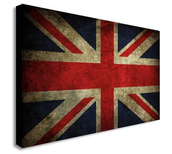 Union Jack Canvas Wall Art Print Various Sizes Regarding Union Jack Canvas Wall Art (View 19 of 20)