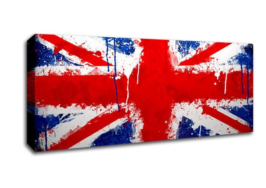 Union Jack World Flags Panoramic Panel Canvas Panoramic Canvas Intended For Union Jack Canvas Wall Art (View 12 of 20)