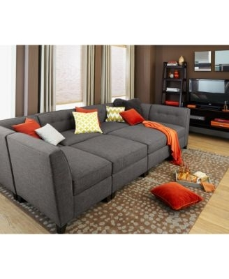 Unique 6 Piece Modular Sectional Sofa 76 About Remodel Modern Sofa Pertaining To Modular Sectional Sofas (Image 10 of 10)