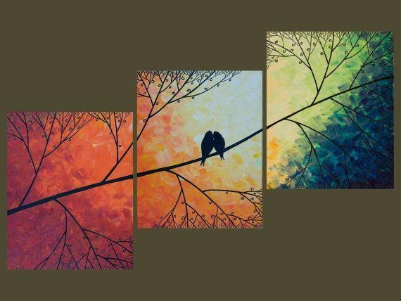 Unique Diy Wall Decor Birds Diy Birds Canvas Art In Birds Canvas Wall Art (View 11 of 20)